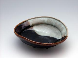 日野唐津小判形鉢(P04121a)