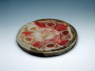 日野火色円陶板(P04121b)