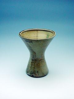 日野黄瀬戸花器(P04121g)