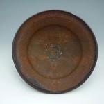 焼締火色窯変鉢